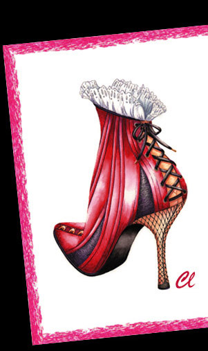 Claudia Lynch ShoeStories Corset Shoe